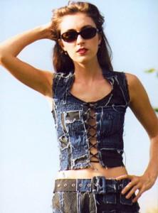 Trendige Jeans-Mode